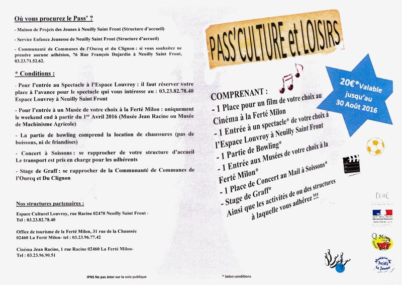 Pass' Culture et Loisirs-1
